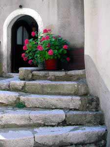 Treppe auf Insel Krk, Kroatien